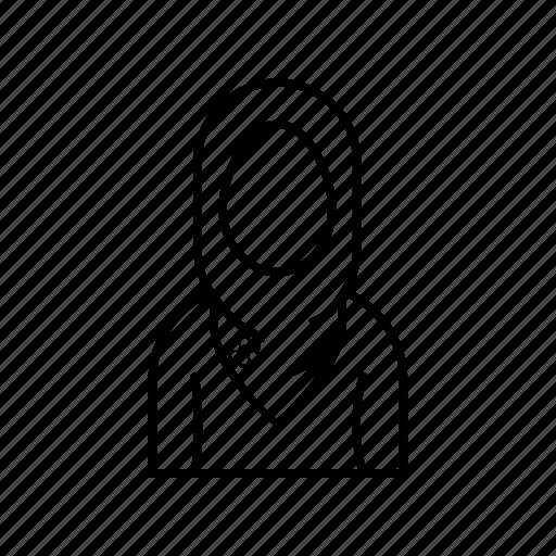 Female, hijab, muslim, profile icon - Download on Iconfinder