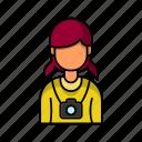 female, photographer, profile