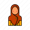 female, hijab, woman