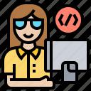 coding, computer, office, programmer, software