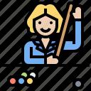 billiard, competitor, game, pool, snooker icon
