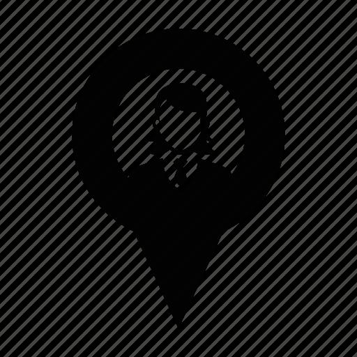 female, labour, person, profile, user, women, worker icon