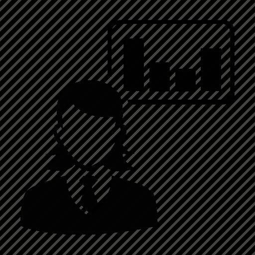 female, person, profile, report, user, women, worker icon