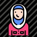 women, woman, female, avatar, emoji, moslem, islam