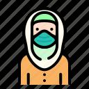 women, woman, avatar, emoji, moslem, islam, mask