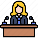 feminism, woman, rights, politician, speaker, podium, ceo icon