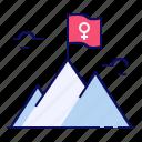 achievement, peak, success, top, woman
