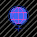 equality, feminism, feminist, girl power, rights, women, world icon