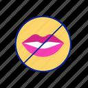 cant, female, feminist, silence, speak, talk, woman icon