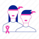 campaign, female, feminism, girl power, ribbon, woman, women