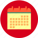 calendar, day, month, week icon