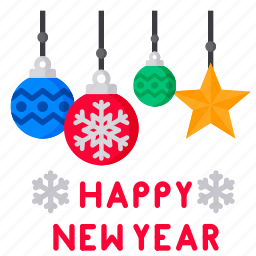 card, celebfratin, decoration, greeting, happy, newyear, star icon