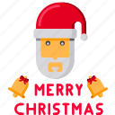 bell, christmas, claus, greeting, jingle, merry, santa icon