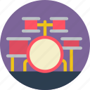 festival, drum, music, concert, kit