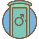 concert, festival, music, toilet icon