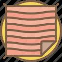 blanket, concert, festival, music, picnic icon