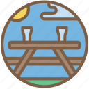 bench, concert, festival, music, picnic icon