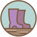 concert, festival, music, wellies icon