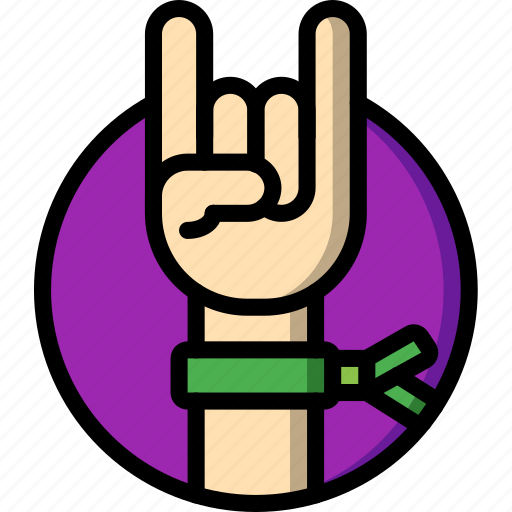 Concert, festival, hand, music, rock icon - Download on Iconfinder