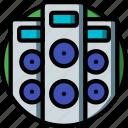 concert, festival, music, speakers icon