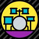 concert, drum, festival, kit, music