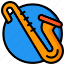 concert, festival, music, saxophone icon