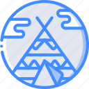 concert, festival, music, teepee icon