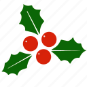 holly, mistletoe, holiday, christmas, xmas icon