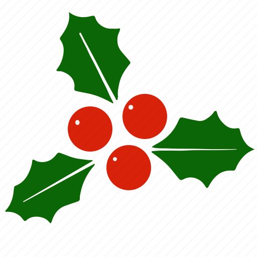 christmas, holiday, holly, mistletoe, xmas icon
