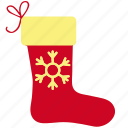 socks, christmas, sock, winter, gift, snowflake icon