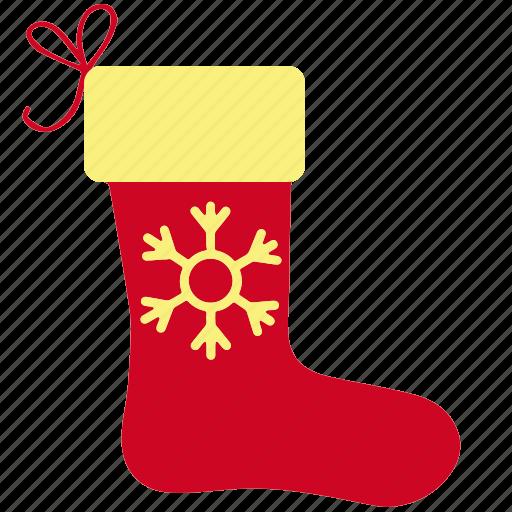 christmas, gift, snowflake, sock, socks, winter icon