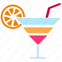 bar, beverage, cocktail, drink, juice, mocktail, party icon
