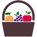 fruits, food, apple, orange, health, grape, grapes icon