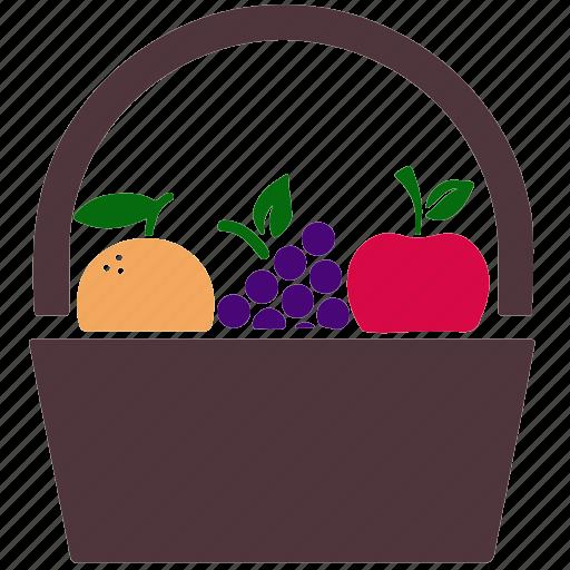 apple, food, fruits, grape, grapes, health, orange icon
