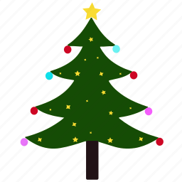 celebration, christmas, christmas tree, decoration, holiday, nature, tree icon