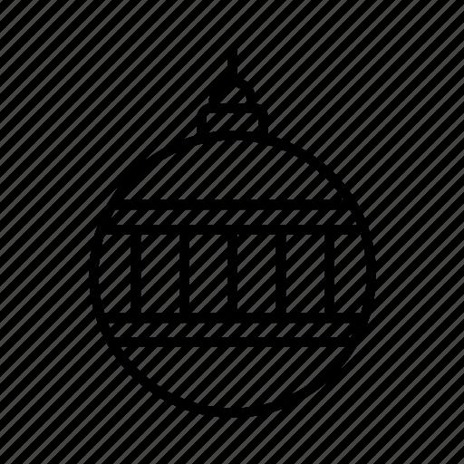 bauble, celebration, christmas, festive, newyear, ornament, xmas icon
