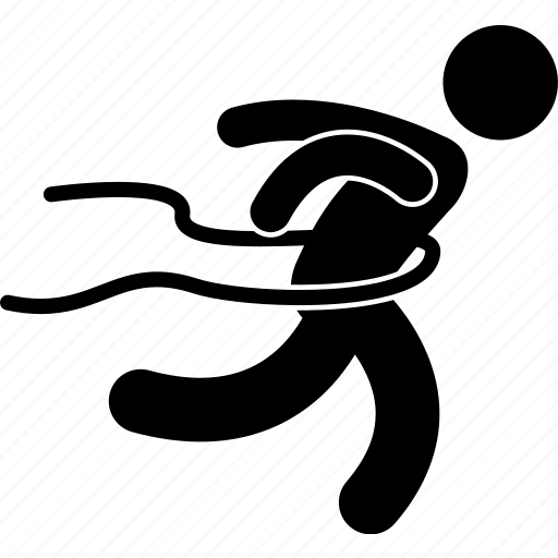 athlete, dash, finish, finishing line, marathon, running, sprint icon