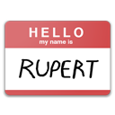 fight club, hello, my name is rupert icon