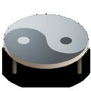 table ying yang icon