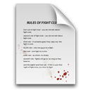blood, document, fight club, paper, rules icon