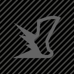 hit, leg, power, punch, speed, strike icon