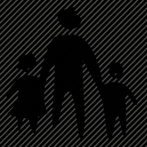 boy, children, family, father, girl, kid icon