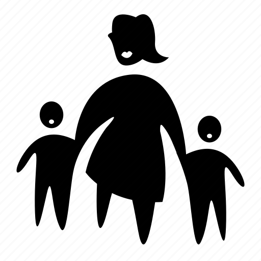 children, family, kid, mother, woman icon