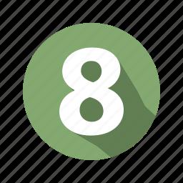 eight, figure icon