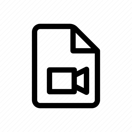 data, document, file, movie, video icon