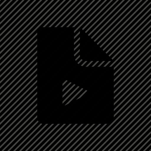 data, document, media, movie, music, play icon