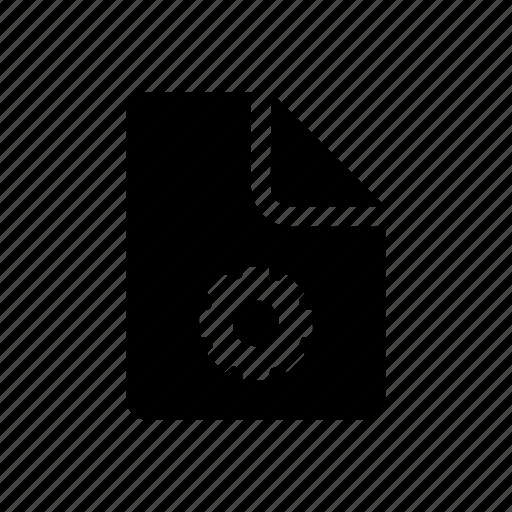 data, document, file, gear, setting icon