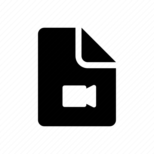 data, document, movie, video icon
