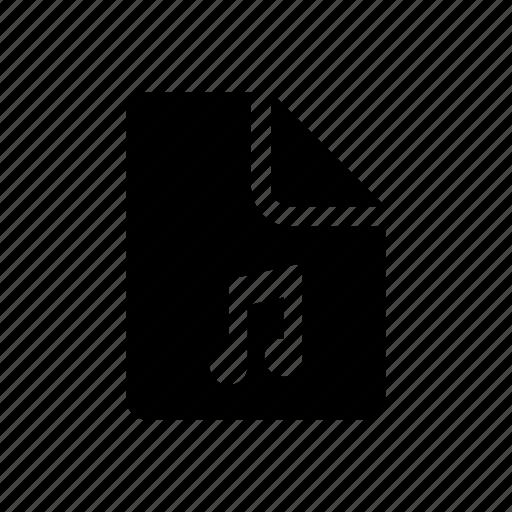 data, document, music, sound icon