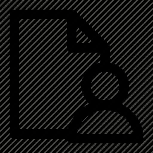 business, document, file, folder, management, office, profile icon